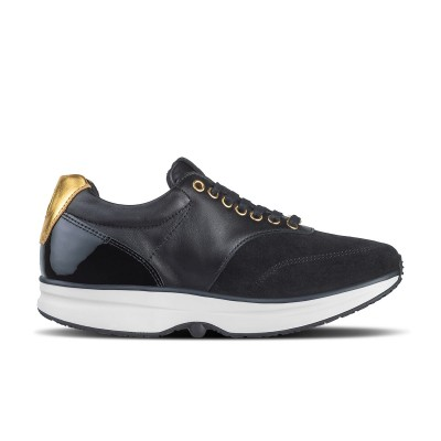 GaitLine.com | Bronze CL Lthr PR Black/Black/Gold