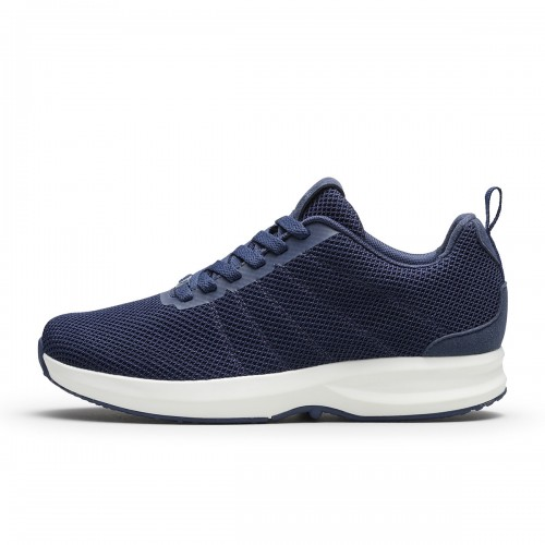 Track Knit - Navy/White